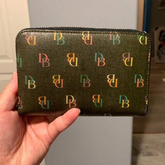 Dooney and Burke multicolor zip wallet